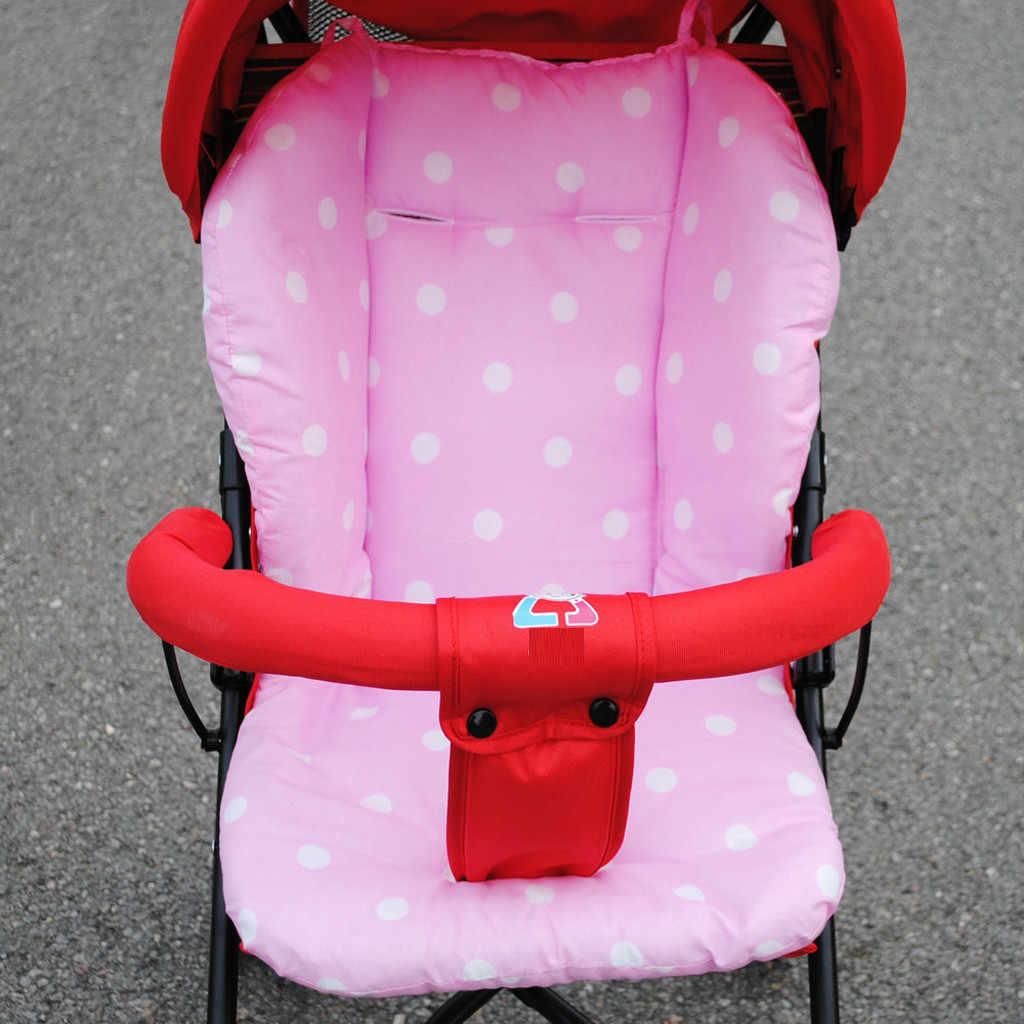 Baby Infant Thick Pushchair Mat Dot Liner Cover Stroller Buggy Pram Seat Cushion Cotton Diapers Changing Nappy Pad Seat General