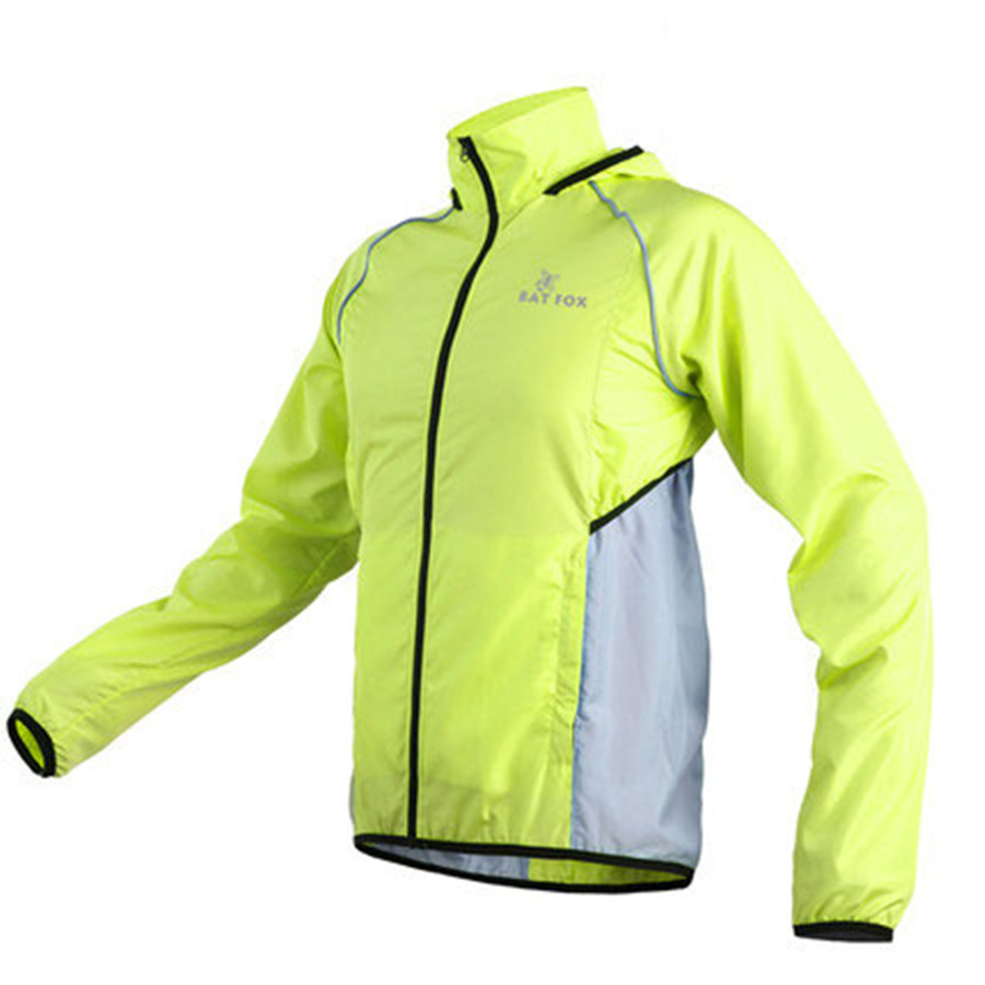 RockBros Cycling Long Sleeve Jersey Outdoor Sport Wind Coat with Hood Green