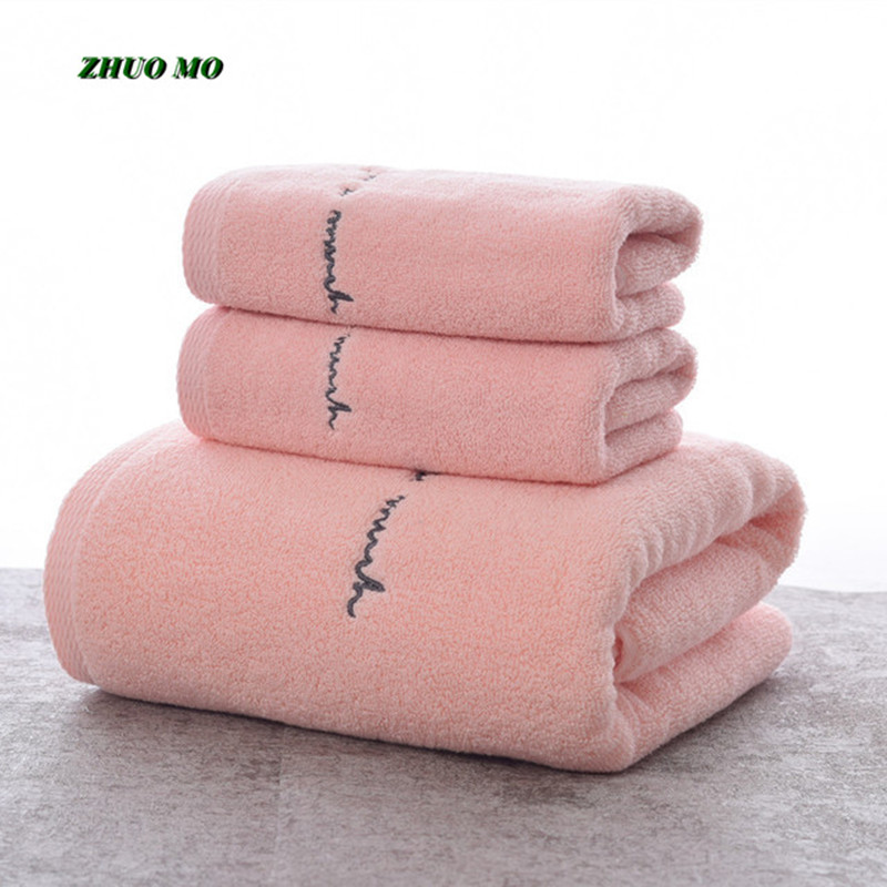 Super Absorbent Bath Towels Set Pure Cotton Embroidery Large For Adults Men's Women's SPA Cover Bathroom shower Soft Lovers Gift