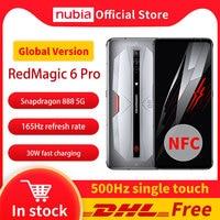 Nubia-teléfono móvil RedMagic 6 Pro, versión Global, envío gratuito con DHL, 5G, 16GB, 256GB, Snapdragon 888, Android 11, Red Magic 6 Pro