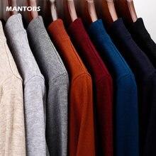 Męskie wełniane swetry jednokolorowe kaszmirowe męskie wąskie swetry jesienne zimowe o-neck swetry japońskie koreańskie swetry streetwear