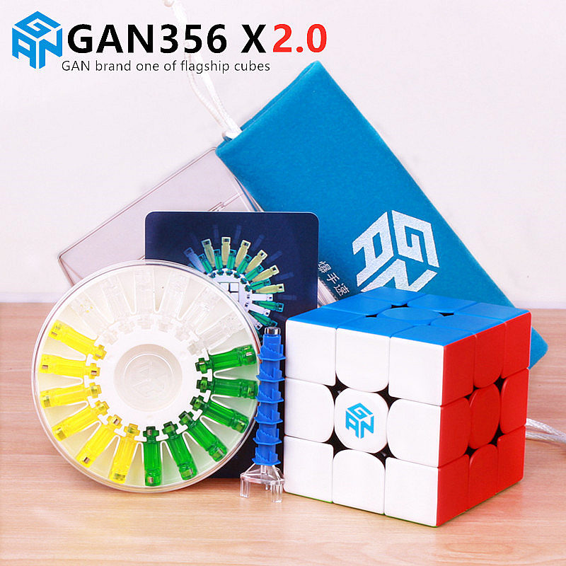 GAN 356 X 2.0 Magnetic Magic Speed Cube Stickerless GAN356 X Professional Magnets Puzzle Cubes GAN356X 2.0