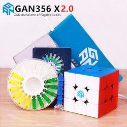 GAN 356 X 2.0 Magnetic Magic Speed Cube Stickerless GAN356 X Professional Magnets Puzzle Cubes GAN356X 2.0