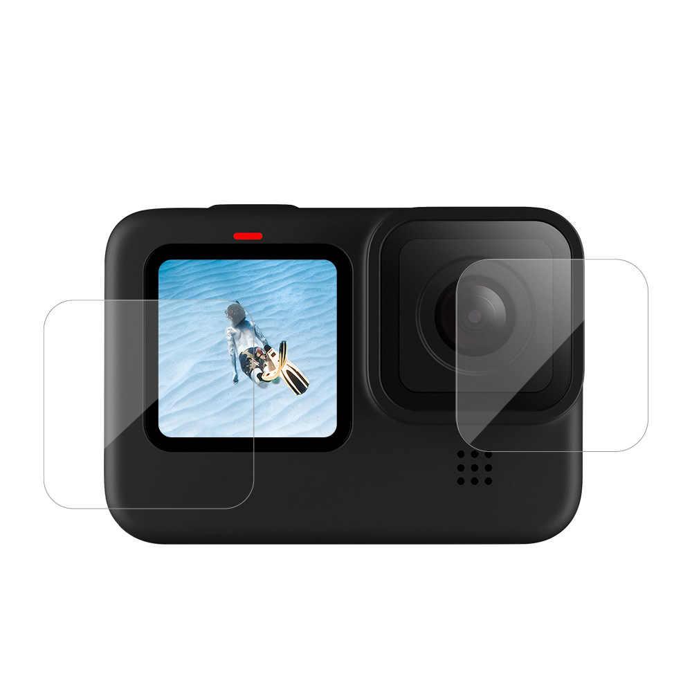 Kính Cường Lực Bảo Vệ Màn Hình Cho GoPro Hero 9 Đen Bảo Vệ Ống Kính Bảo Vệ Cho Gopro9 Đi Pro 9 Phụ Kiện