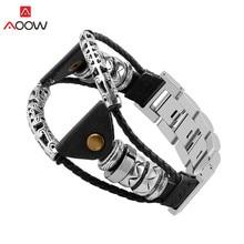Geflochtene Leder Armband Strap für Samsung Galaxy Watch3 45mm 46mm Getriebe S3 Huawei GT 2 Edelstahl Link ersatz Uhr Band