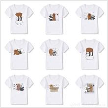 T-Shirt Kids Bear Clothing Tops Girl Cartoon Summer Boy Cute Harajuku Fashion Tee New
