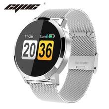 CYUC Q8 Smart Uhr OLED Farbe Bildschirm männer Mode Fitness Tracker Heart Rate Monitor Blutdruck Sauerstoff Schrittzähler Smartwatch intelligent sehen Bluetooth Verbindung For Apple IOS Android OS