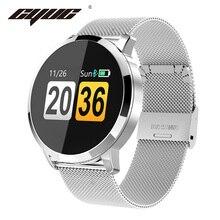CYUC Q8  pantalla de Color OLED Hombre Reloj inteligente femenino Detección de frecuencia cardíaca Monitor de presión arterial podómetro Hombre Deportes relojes inteligentes for Apple Android IOS
