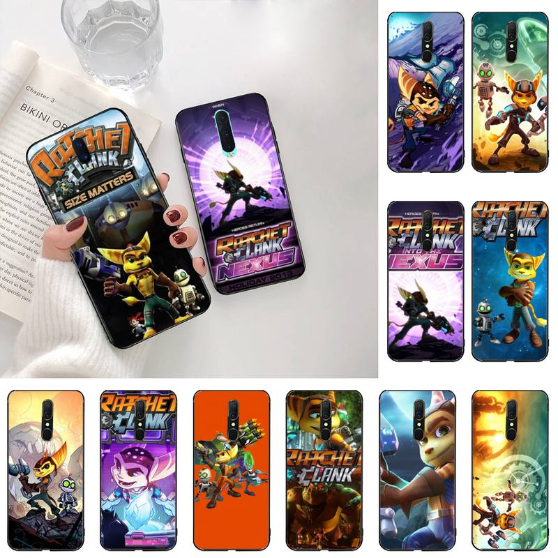 game Ratchet and Clank Cover Black Soft Shell Phone Case For Oppo A5 A9 2020 Reno2 z Renoace 3pro Realme5Pro image