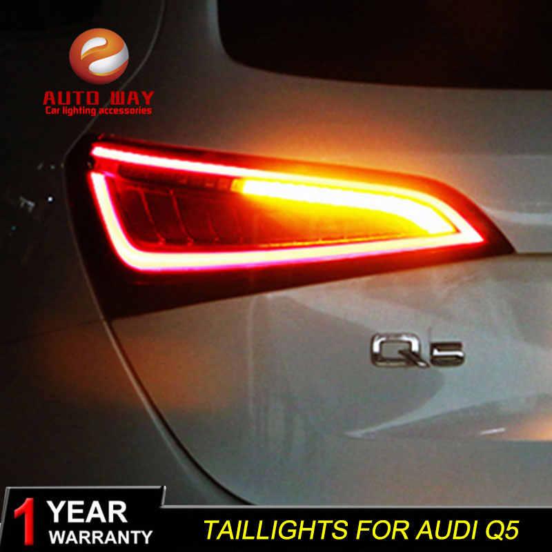 Auto Styling Case Voor Audi Q5 2009-2015 Achterlichten Achterlichten Led Achterlicht Achter Lamp Drl + Turn signaal + Rem + Reverse