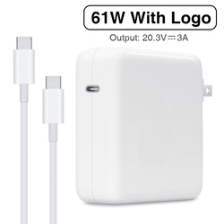 61W USB-C PD Power Adapter Type-C Fast Charger For Apple Latest Macbook pro 13inch A1706 A1707 A1708 A1718 iPad Air Replacement