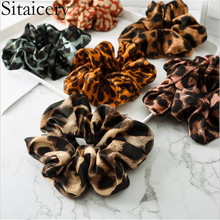 купить Sitaicery 2019 Chiffon Leopard Hair Bands Printed Floral Ponytail Holders Hair Scrunchies Elastic Snake Headband Women Print Haar Accessoires дешево