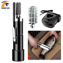Wireless Electric Waterproof Fish Scaler Clean Fish Remover Cleaner Descaler Scraper  Seafood Tools 2200MAH Charging Portable ac110 220v electric fish skin scaler descaler scale scraper knife fishscale seafood tools