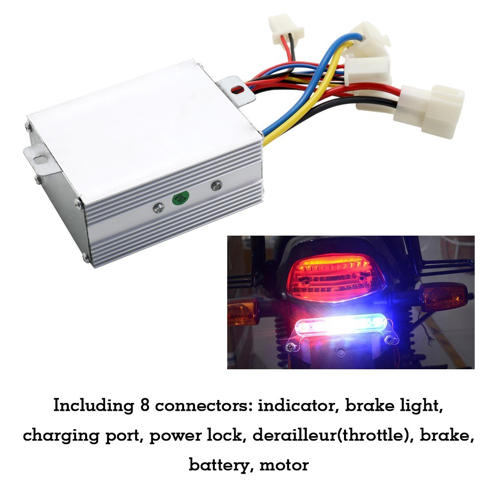 24V 500W Electric Bicycle Brushed Speed Controller For Scooter E-bike Motor Bike Speed Controller Motor Speed Controller
