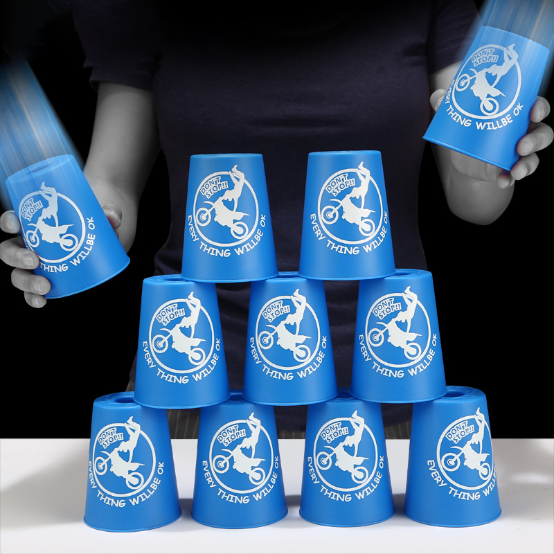 Fast Folding Cup, Flying Saucer Cup, Children's Competition Set, Competitive Students'folding Cup Toy