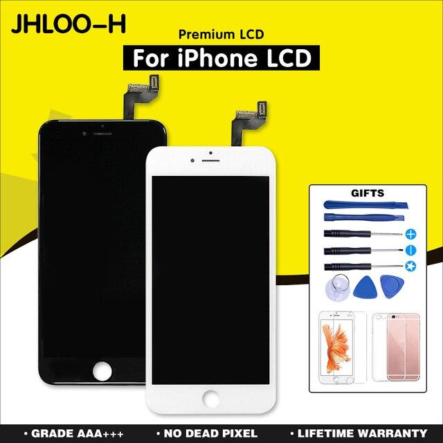 AAA + + + dla iPhone 6 6S 7 8 Plus LCD z siłą 3D montaż digitizera ekranu dotykowego dla iPhone X XS XR 5S 4S wyświetlacz nie martwy piksel