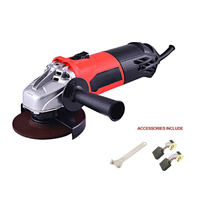 Ergonomic Heavy Duty Cut Angle Grinder 120 V/60 Hz Household Impact Drill Kit Wrench +Carbon Brush Wood Furniture Finishing