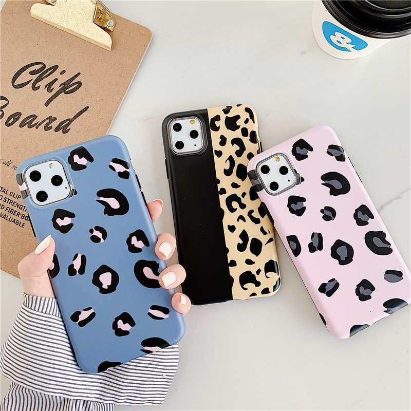 Neue Glänzend leoparden-print handy abdeckung für 2019 iphone 11 pro MAX, für iphone 7 fall für iphone 8 plus für iphone X XR MAX