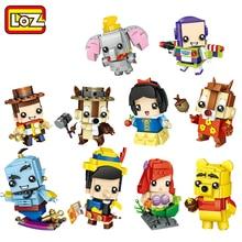 LOZ bloques de construcción de figuras de princesas Blancanieves para niños, juguete de piezas de bloques de construcción de personajes de niña, juguete educativo