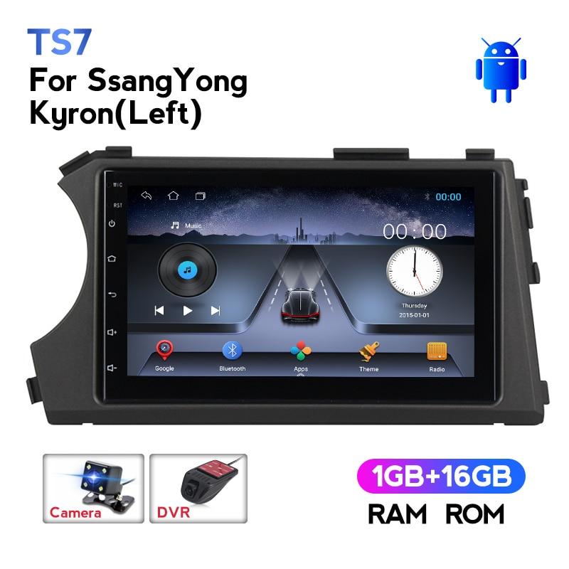 Navifly wifi bt carro multimídia jogador gps cassete para ssang yong ssangyong actyon kyron 2din navegação gps