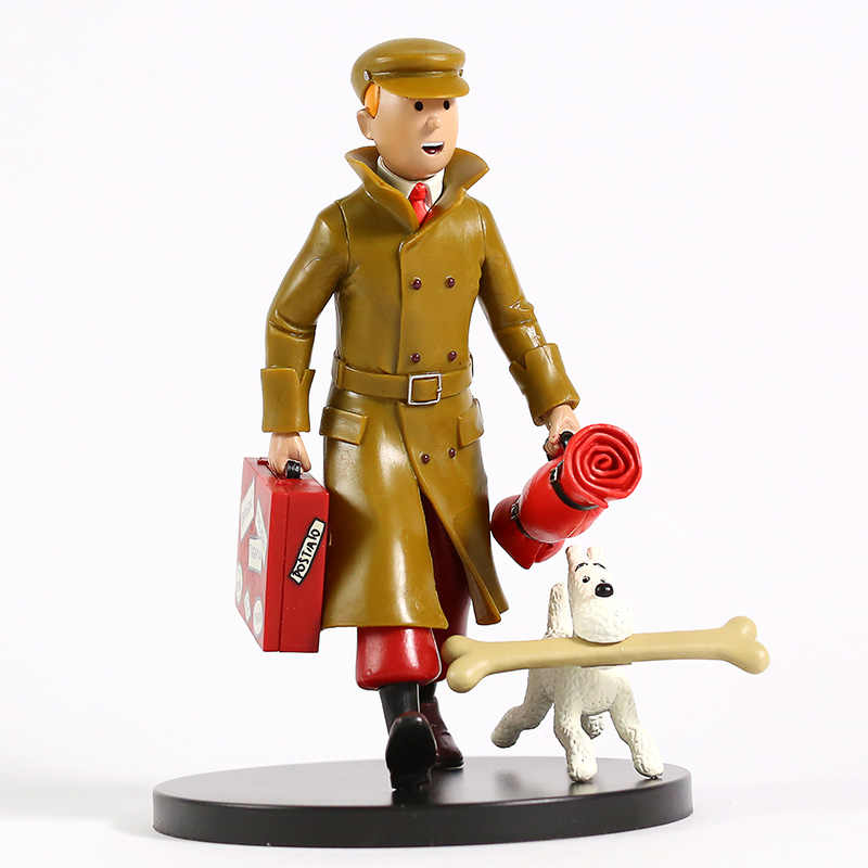 As Aventuras de Tintin Estátua PVC Figura Collectible Toy Modelo