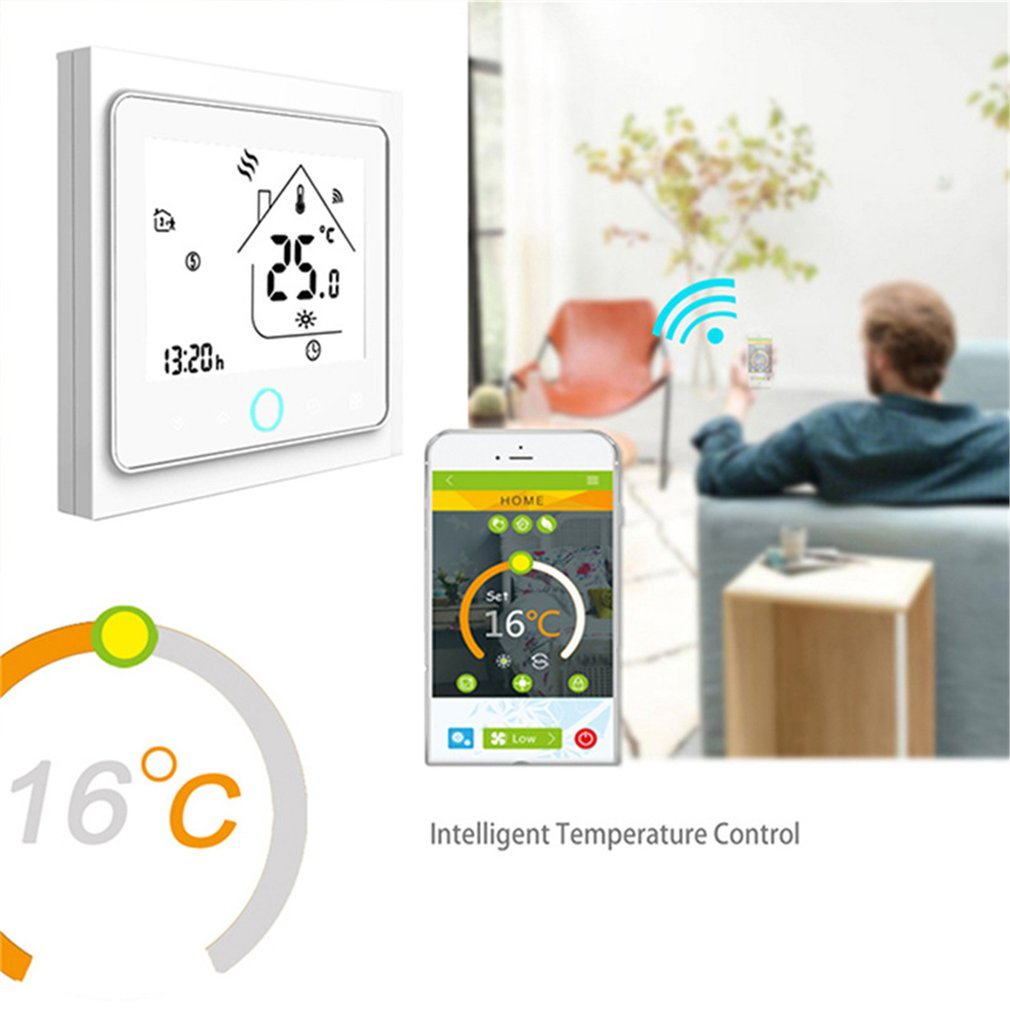 THP1002WH WiFi Smart Thermostat Electric Heating Temperature Controller For Water Boiler Alexa Google Home Thermoregulator