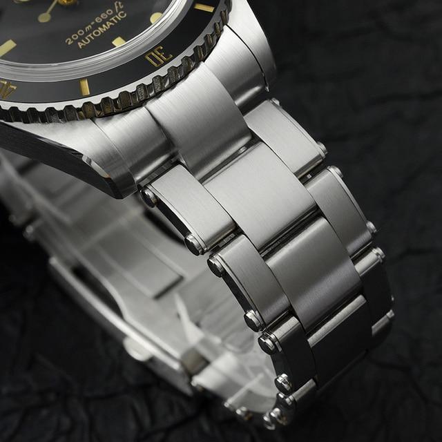 San Martin Diver Watch 6200 Retro Water Ghost Luxury Sapphire NH35 Men Automatic Mechanical Watches 20Bar Waterproof Luminous 5