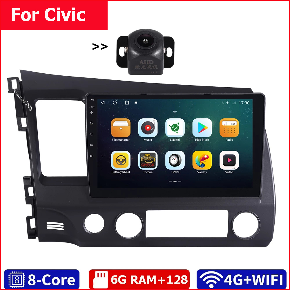 6G Ram+128G Rom/Wifi+4G/2Din Car Radio Stereo Audio Tablet Android 10 Gps BT Video Player USB For Honda Civic 4d 2006 2011 2 din 10.1 2 dindvd car gps - AliExpress