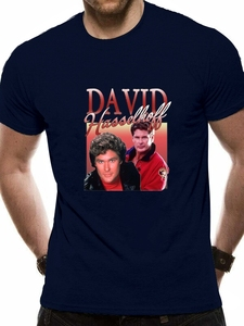 David Hasselhoff T Shirt 90S Homage Mich Vintage şövalye binici Baywatch gece en kaliteli Tee gömlek