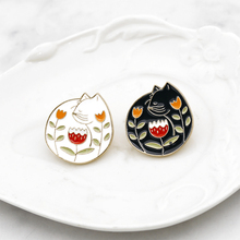Yin Yang Pins Collection ~ Yin-Yang Witch cat pins Black White  Lapel Enamel pin Brooches for witches Halloween jewelry