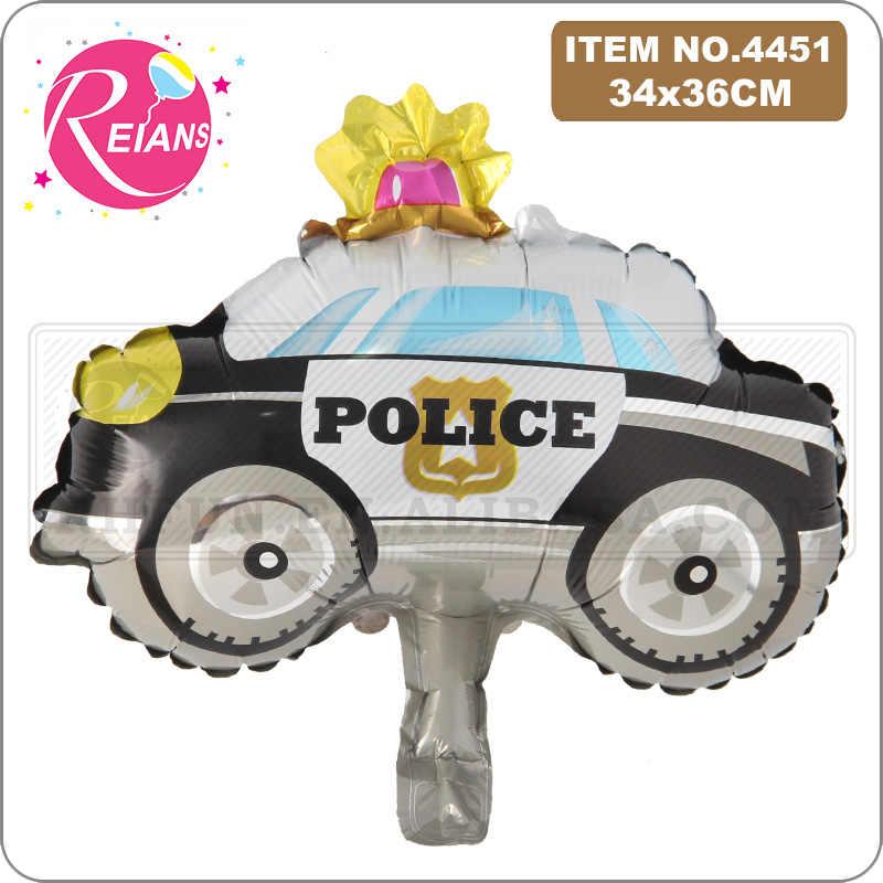 Mini serie di Veicoli palloncini Buon Compleanno Da Moto per bambini Decorazioni Del Partito auto baby shower regalo serbatoio treno camion Dei Pompieri globos