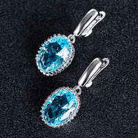 Huitan New Come Vintage Drop Earrings For Women With Dazzling Cubic Zircon Stone Three Color Available Wholesale Lots&Bulk