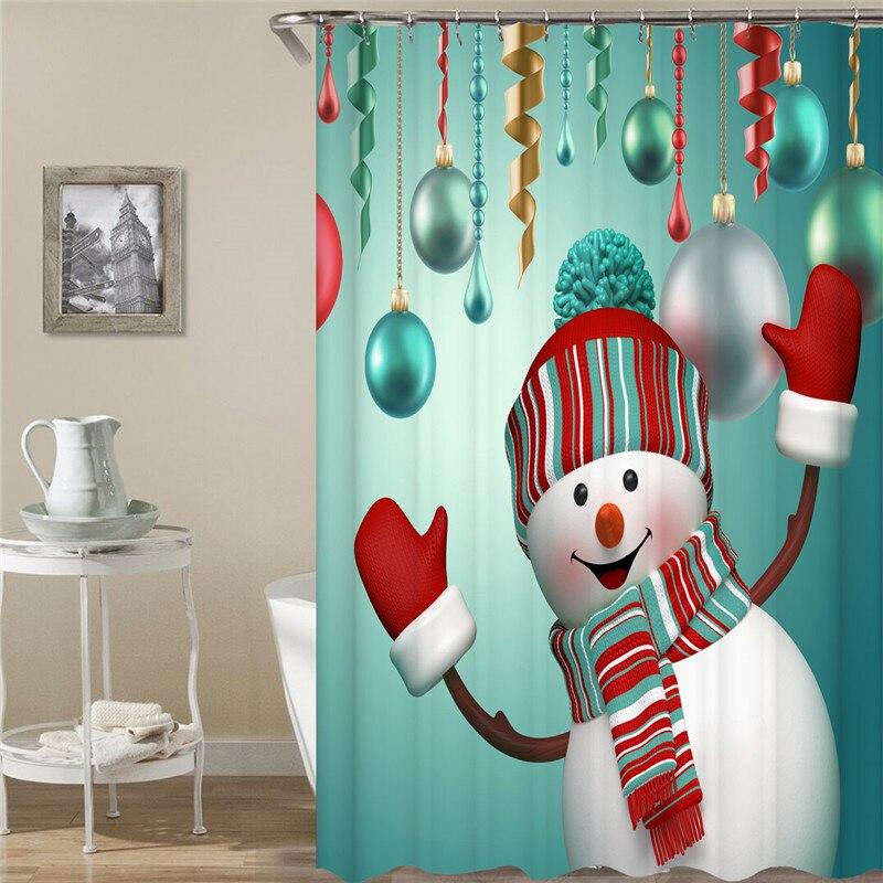 70 x 22,8 x 177,8 x 22,8 cm Lifreer 1 cortina de ducha de Navidad Pap/á Noel mu/ñeco de nieve feliz Navidad impermeable cortinas de ducha para decoraci/ón de Navidad