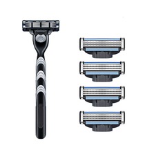 Manual Shaving Razor Holder With 3 Layer Replaceable Razor Blades Shaving Cassettes Blade Compatibility With Gillettee Mache3