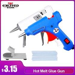 EXCITEDWORK Клеевой пистолет, Высокотемпературный нагреватель-пистолет с клеем для ремонта