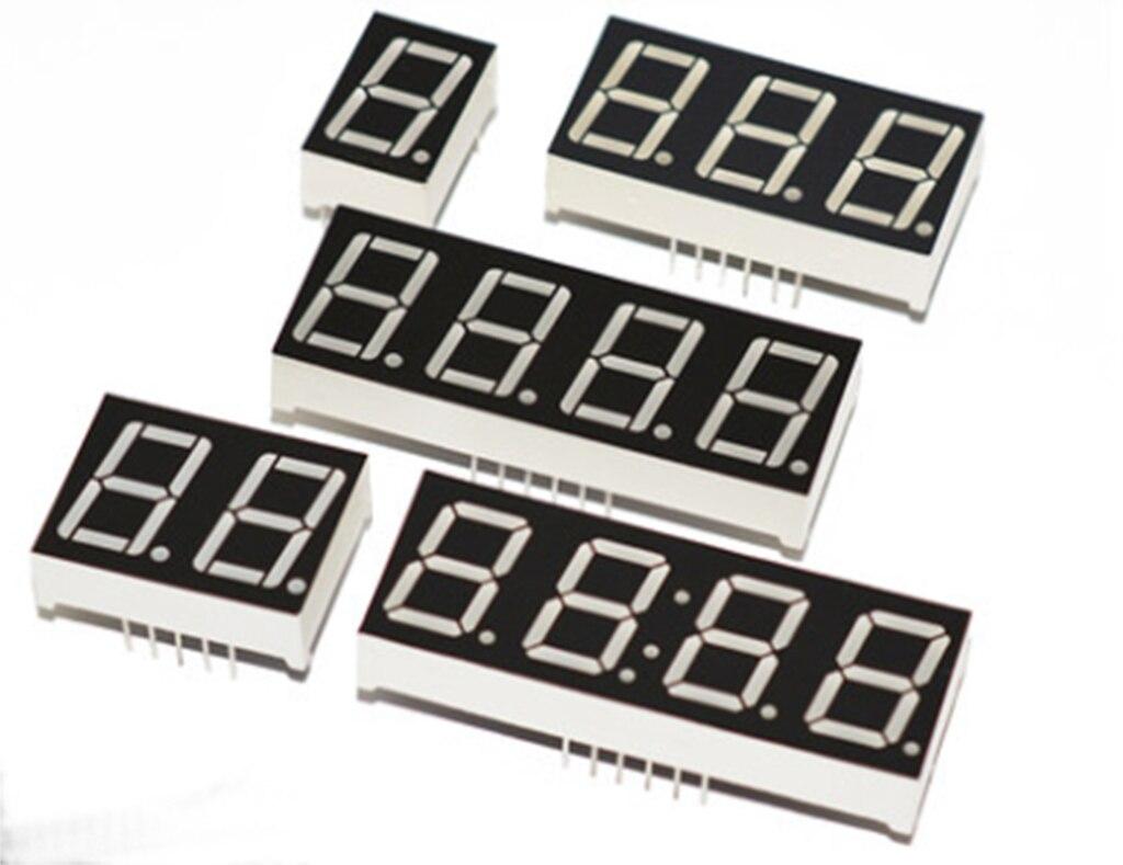 0.4 inch 7 Segment Red LED Display Digital Tube Common Cathode//Anode 1//2//3//4Bit