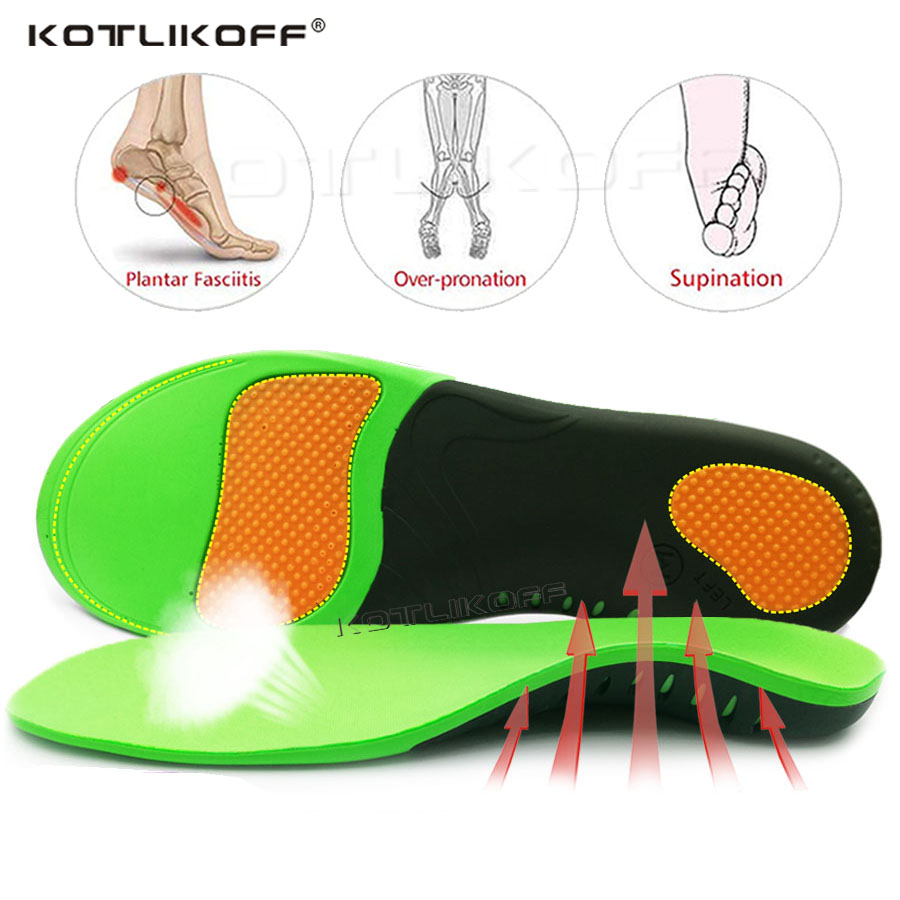BEST Orthopedic Shoe Sole Insoles For Feet Arch Support Flat Feet Inverted Valgus Health Correction For Women Men's Shoes Insert
