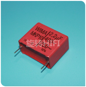 Image 1 - 4PCS RED WIMA MKP10 2U2 400V p27.5mm original new MKP 10 225/400V audio 2200nf 2.2UF film 225 PCM22.5 hot sale 2.2uf/400v