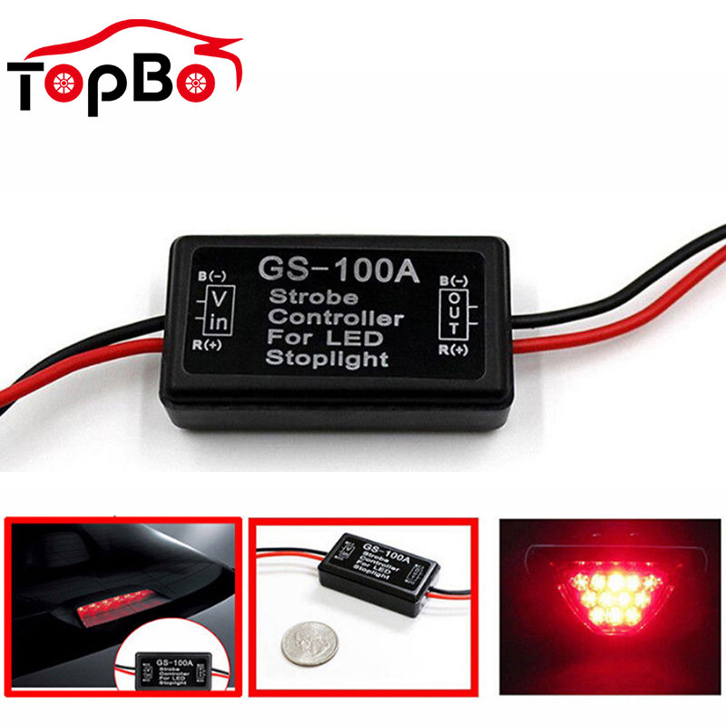 Motor Car GS-100A LED Brake Light Flash Strobe Controller  Module Signal Controller Tail Lamp Controller For Car LED Brake Stop