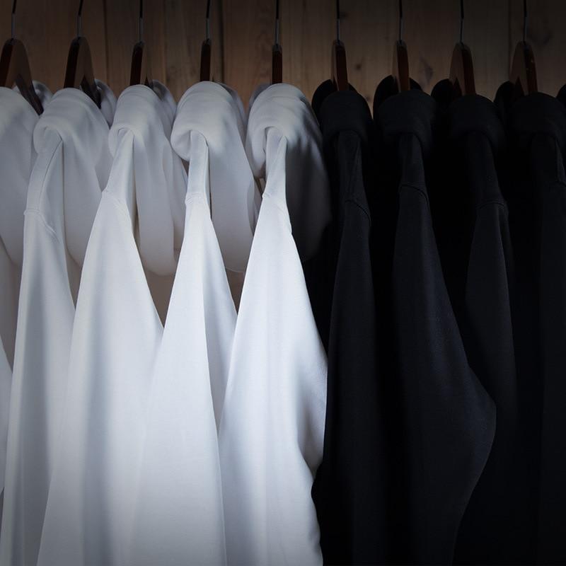 Shun Princes Store Black/white Hoodie  Mens Cotton  Hoodies Sweatshirts Men High Quality  Long Sleeve Fashion Mens Hoodies 2020