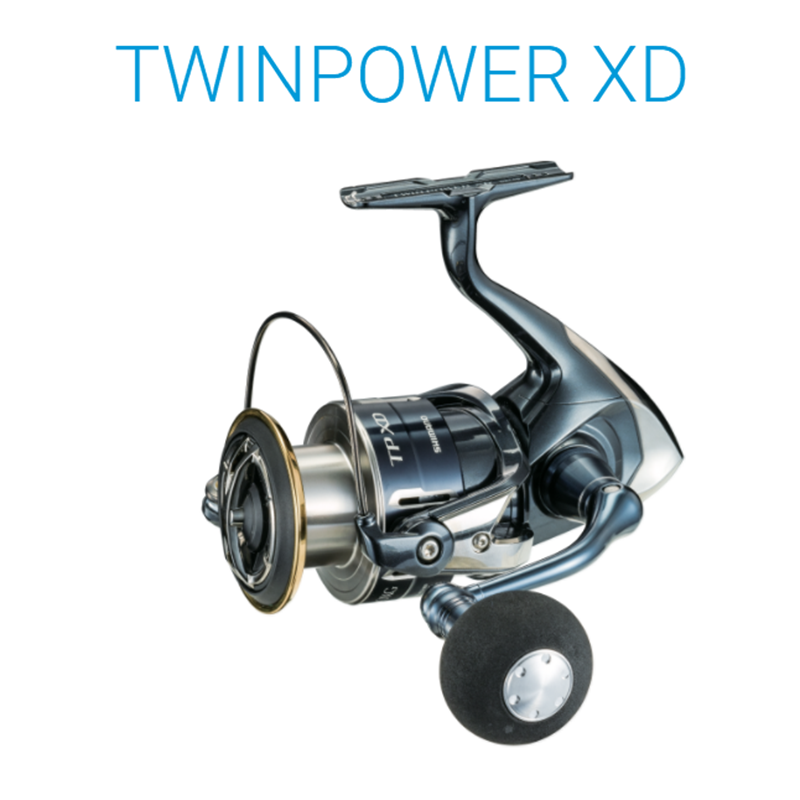 Original SHIMANO TWIN POWER XD <font><b>C3000HG</b></font> C3000XG 4000XG C5000XG 9+1BB HAGANE Seawater Spinning Fishing Reel Saltwater Fish Wheel image