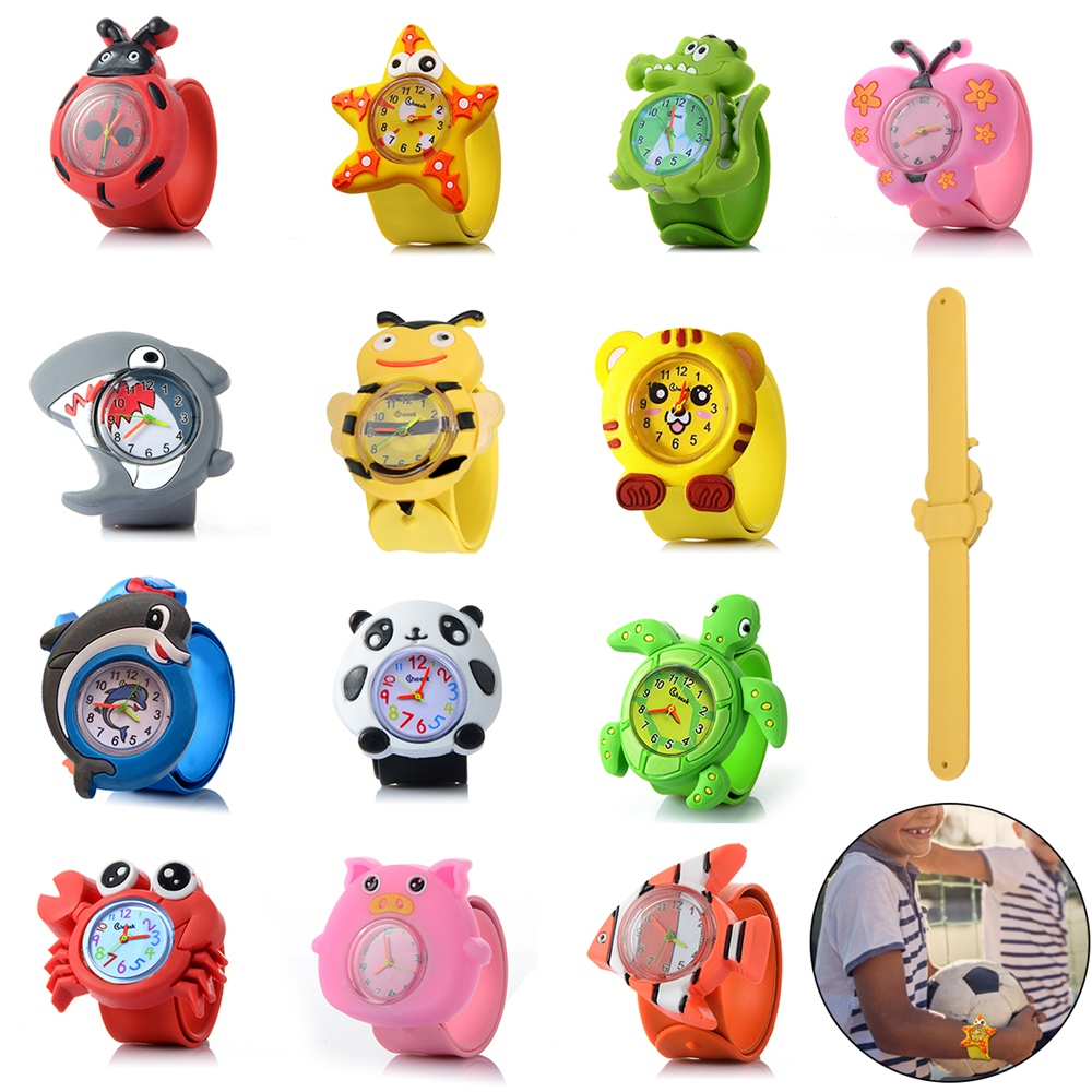 1PC Children's Watches 3d Cartoon Toys Lovely Gift Anime Patted Wristwatch Anime Patted Watch Silicone Strap Child Quartz Watch