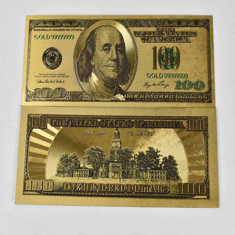 米国 100 ドル紙幣フェイクマネー 500 ユーロ 24 18k ゴールドメッキドル装飾ゴールドのギフトの装飾のギフトの金の紙幣