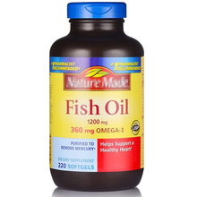 Fish Oil 1200 Mg 360 Omega-3 Softgels 220 Pcs Free Shipping
