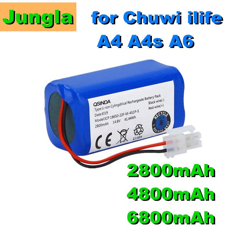 Литий-ионный аккумулятор для робота-пылесоса Ecovacs CEN540 CEN546 CEN550 CR130 CEN663, 14,8 в, 2800 мАч