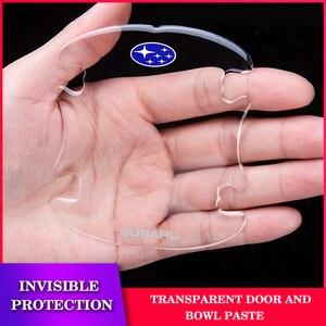Автомобильная наклейка 4 шт., прозрачная защитная наклейка на дверную ручку автомобиля, для Subaru Forester Outback Legacy Impr|Наклейки на автомобиль|   | АлиЭкспресс