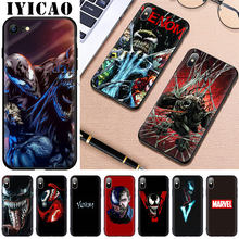 IYICAO DC Marvel Venom Silicone Suave para o iphone 5 5S SE X XS XR XS Max 6 7 6s 8 Plus 11 pro max Tampa Do Telefone(China)