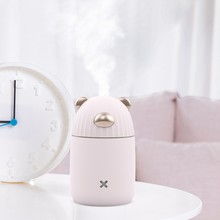 Meng Series Cute 300ML Air Humidifiers Mute Mini USB Humidifier Night Light Office Desktop Nano water mister silent LED Light givenchy mister light