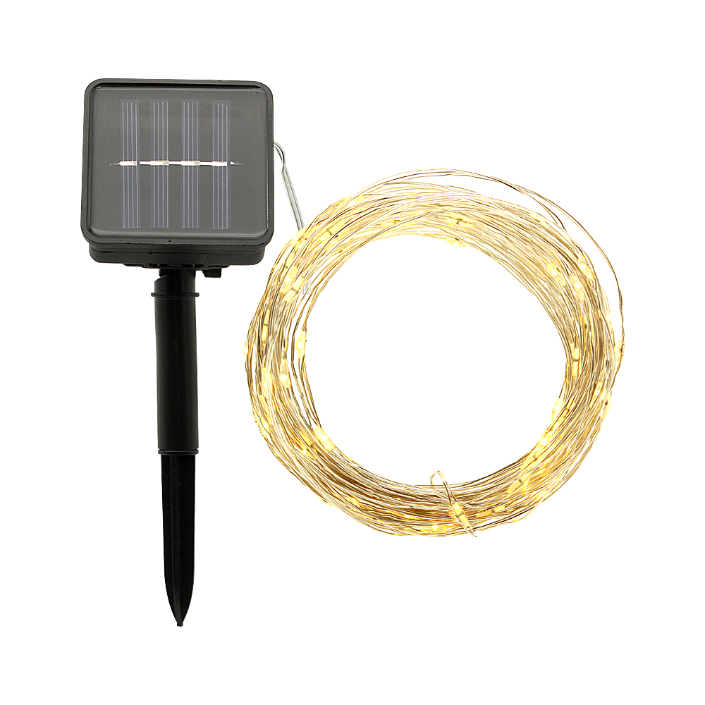 ANBLUB Outdoor 10M 20M LED Solar String Light Fairy Lamp 8 Modes Waterproof For Christmas Garden Patio Holiday Party Decoration