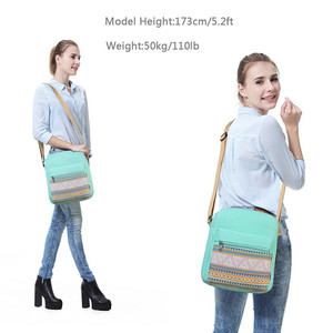 Image 5 - Vaschy のためのヴィンテージキャンバス女性のための軽量クロスボディバッグメッセンジャーバッグと内側ポケット